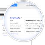 Google muestra correos de Gmail en los resultados de búsqueda