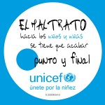Chapa UNICEF contra el maltrato infantil