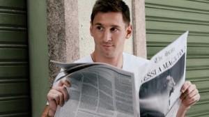 ¿Es Messi un mago? se lee en titular del diario