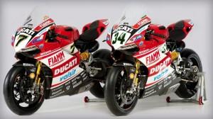 Las Ducati 1199 Panigale de Chaz Davies y Davide Giugliano