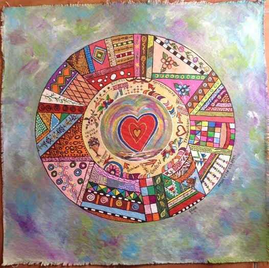 El amor y los colores (Acrilic on canvas) (2)